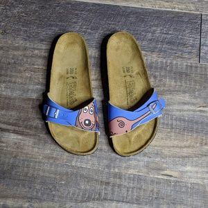 Birkis menorca blue dog buster slides